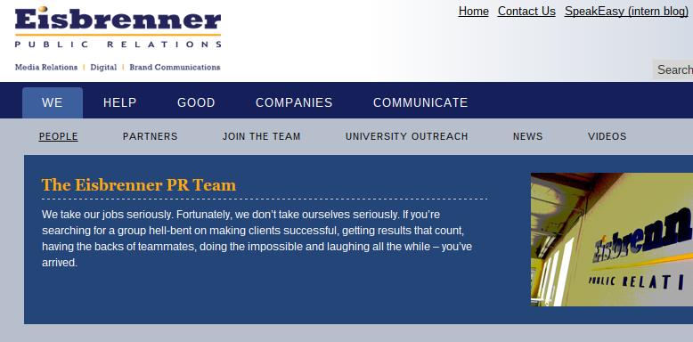 Eisbrenner navigation on old website